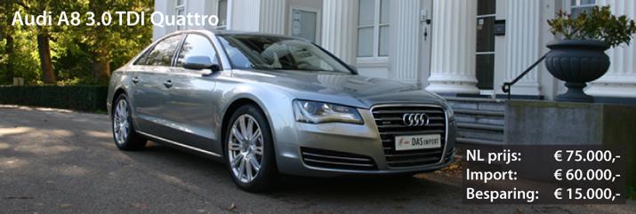 Audi A8 3.0 TDI quattro uit Duitsland
