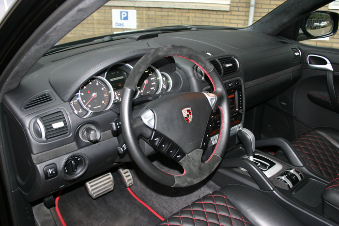 Custom leer upgrade Porsche Cayenne Turbo