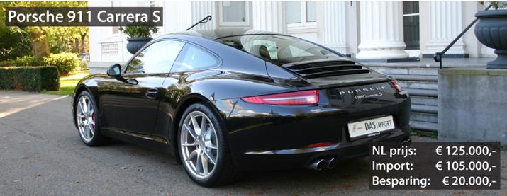 Recent geïmporteerde Porsche 911 Carrera S